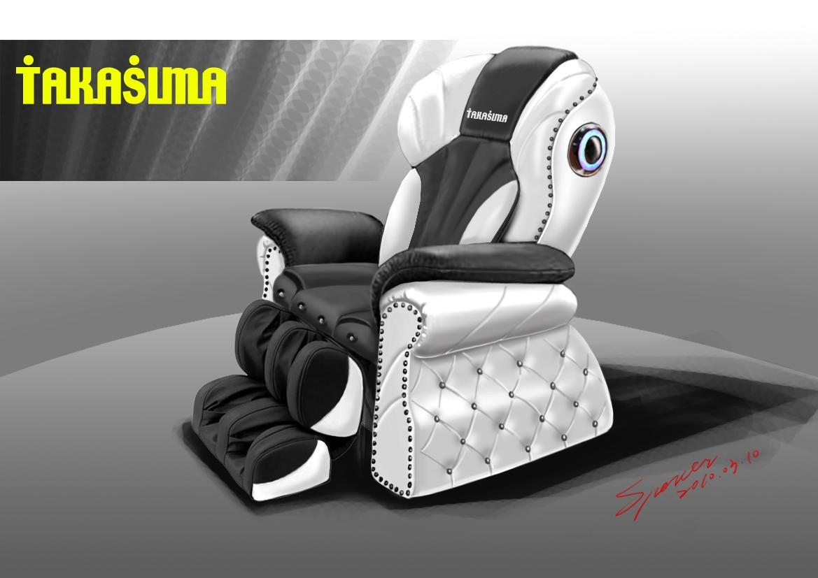 Массажное кресло Takasima VIP Black & White