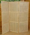 Ширма-перегородка с бамбуковым плетением